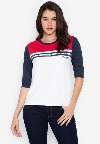1124b754 Wrangler white Raglan Sleeve T-Shirt With Soft Graphic Print  E00A0AA54C6E75GS_1