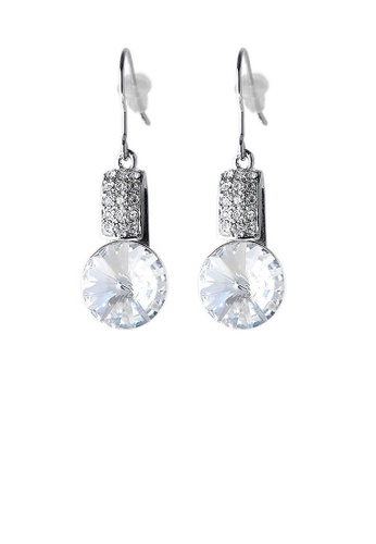 Glamorousky silver Elegant Earrings with Silver Crystal Glass and Silver Austrian Element Crystals B4F9FACE3D6A0CGS_1