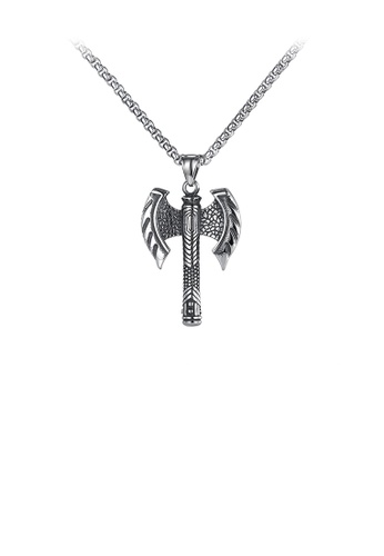 Glamorousky silver Fashion Vintage Axe 316L Stainless Steel Pendant with Necklace BDB22AC3BE06BBGS_1