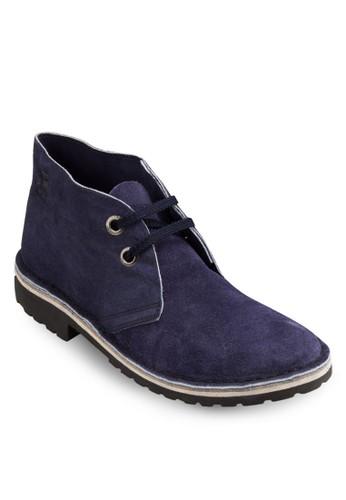 Safari 麂皮雙眼短筒踝靴, 鞋, zalora 包包評價靴子
