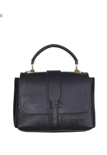 Verchini black Verchini Metallic Push-Lock Top Handle Bag 40D1FAC0B85715GS_1