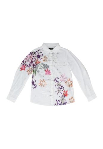 Desigual white Print Shirt 9E19AKA8F54613GS_1