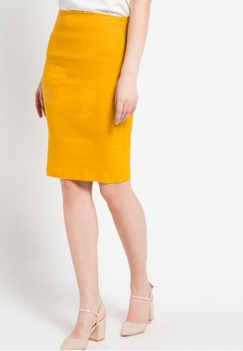 Raspberry yellow Wina Midi Skirt RA572AA94ALTID_1