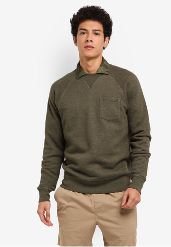 J.Crew brown Pique Textured Crewneck EBDBFAA50B0134GS_1