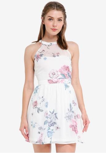 ZALORA multi Bridesmaid Halter Fit & Flare Mini Dress E74EDAA0A5A27BGS_1