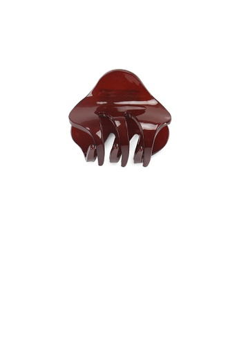 Glamorousky silver Simple and Cute Red Geometric Small Hair Claw 25A36ACE1E3E7AGS_1