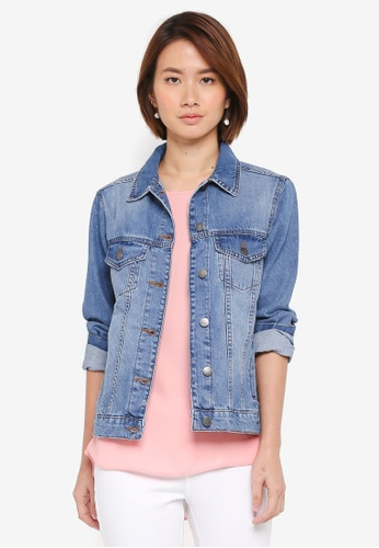 Dorothy Perkins blue Mid Wash Denim Jacket B0B18AA4048588GS_1