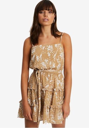 Tussah brown Firah Mini Dress 4AA99AA44BE7B7GS_1