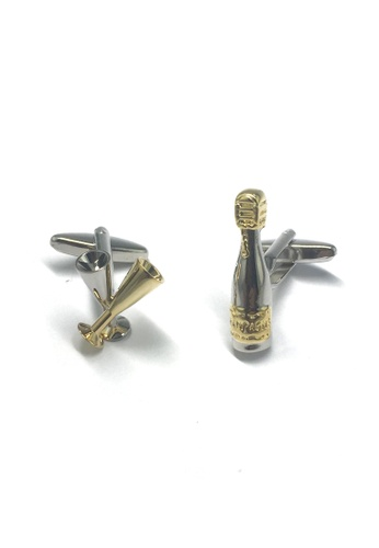 Splice Cufflinks Champagne Bottle and Flute Cufflinks SP744AC06ACJSG_1