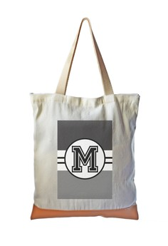 Tote Bag Monochrome Sporty Initial M