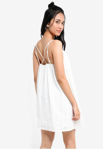 Something Borrowed white Embroidered Cami Swing Dress 94284AAAD14710GS_1