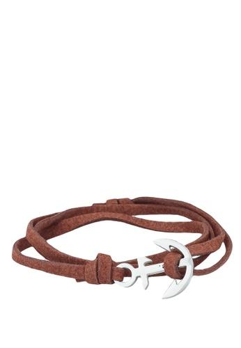 Thread Etiquette brown Chestnut Anchor Bracelet 5AB69AC150BC66GS_1