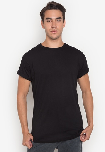 f7251750 Shop Topman Black Muscle Fit Roller T-Shirt Online on ZALORA Philippines