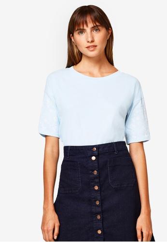 ESPRIT blue Short Sleeve T-Shirt 3CE95AA54F42E6GS_1