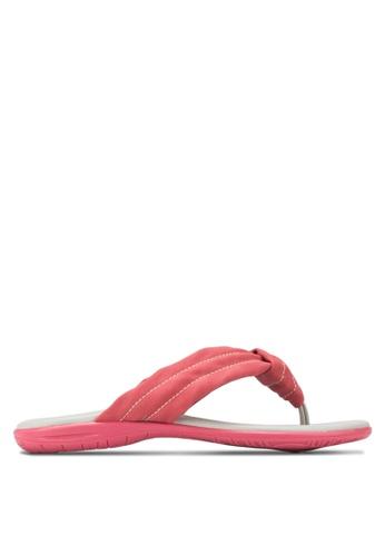 Le Sandee red Comfy Flip Flops LE906SH84NEPMY_1