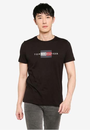 Tommy Hilfiger black Lines Hilfiger Tee 3C60EAA673D5BDGS_1