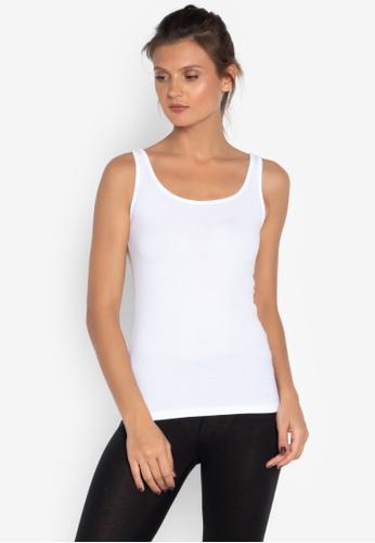 MARKS & SPENCER white Build-up Shoulder Vest 3D461AA80B7E29GS_1