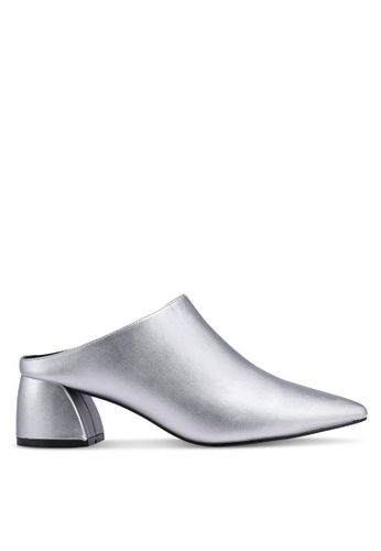 Something Borrowed silver Pointed Mule A0062SH24F7272GS_1