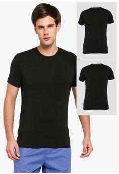 91b02e00be Calvin Klein black 2 Pack Crew Undershirt - Calvin Klein Underwear  52E4BAA440A266GS 1
