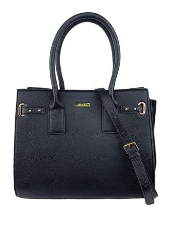 Mel&Co black Faux Leather Satchel Bag 97AB7AC9C36FC6GS_1