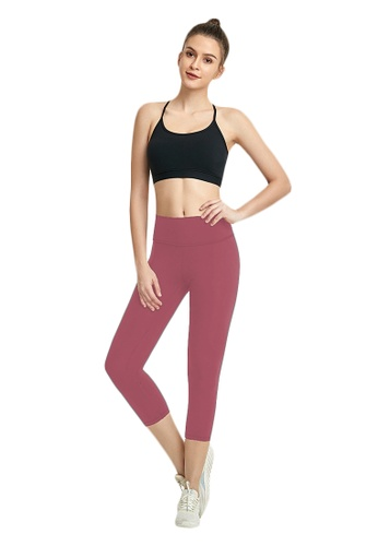 B-Code red ZWG7013Lady Quick Drying Running Fitness Yoga Sports Leggings -Red FD082AA96733FBGS_1