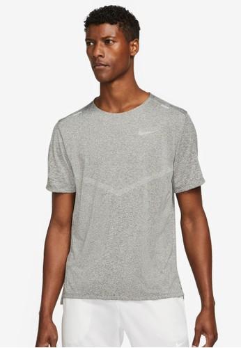 Nike grey Dri-Fit Rise 365 Running Top 6EC1FAA37289DDGS_1