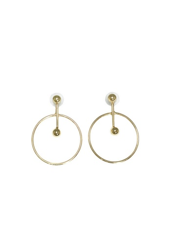 LIVLOLA gold Dina Hoop Earrings in gold LI657AC0SBS3MY_1