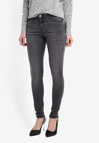 Dorothy Perkins black Short Washed Black Skinny Jeans DO816AA0T04OMY_1