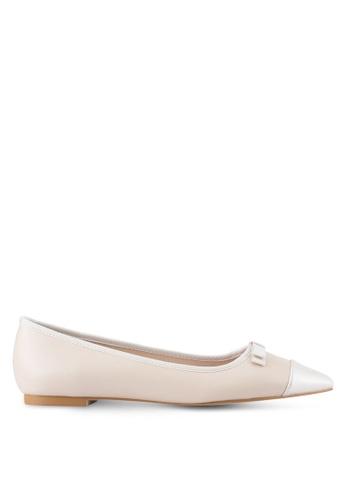 Velvet beige Faux Leather Pointed Toe Flats 1C6FASH017E1B7GS_1