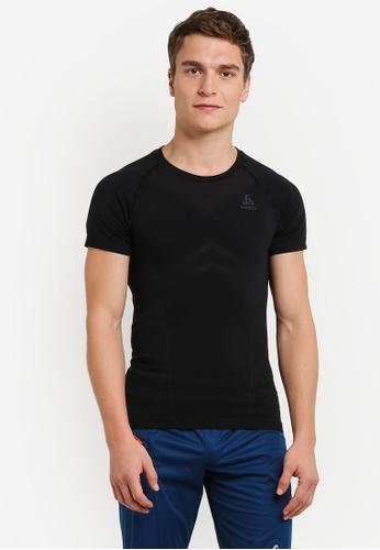 Odlo black Crew Neck Evolution Light Short Sleeve Shirt OD608AA0S12AMY_1