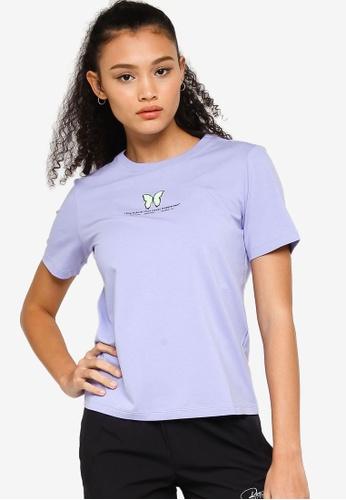 361° purple Sports Life Short Sleeve T-shirt 00799AAF69A984GS_1