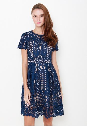 Leline Style blue Livy Crotchet Dress LE802AA73IPUSG_1