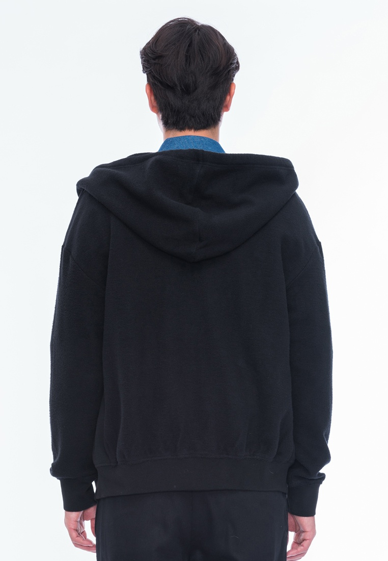 Alpha up Black Oversize Kennedy Zip Hoody Style xFOOqB