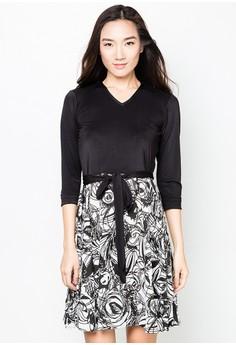 Jacqueline Quarter Sleeves Short Dress