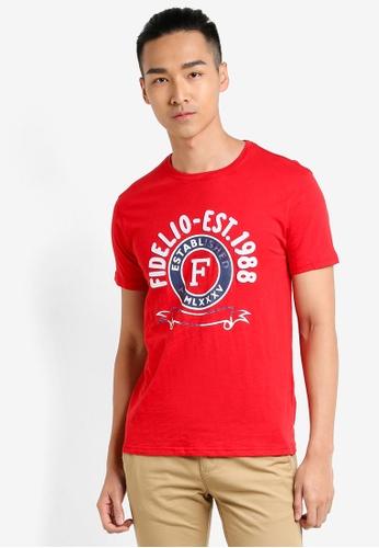 Fidelio red F Logo Printed Tee FI826AA25NSWMY_1