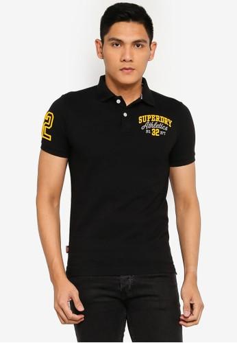 Superdry black Classic Superstate Polo Shirt - Original & Vintage DF54BAA6CF17F3GS_1