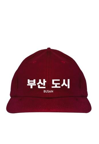 HYPE MNL red Korean Tee Busan Baseball Cap 85649AC1ED31C8GS_1