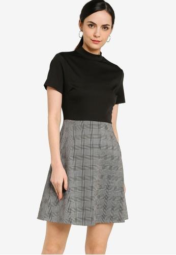 ZALORA WORK multi High Collar Colourblock Dress 1CD46AA3E42D3EGS_1