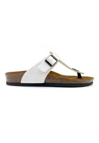 SoleSimple 白色 Copenhagen - 白色 百搭/搭帶 軟木涼鞋 E9E2DSH10F48ACGS_1