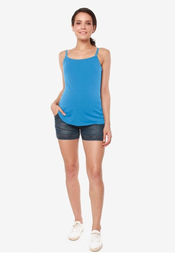 Bove by Spring Maternity blue Knitted Coretta Pump & Nursing Camisole 7C208AAAB8B0C2GS_1