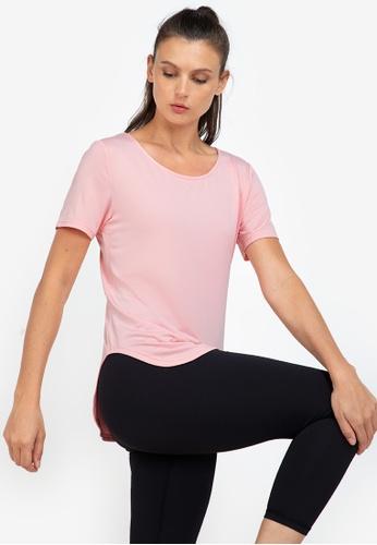 ZALORA ACTIVE pink Core Training Crew Neck T-Shirt C70A5AA2436139GS_1
