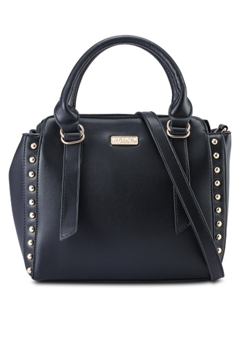 Unisa black Faux Leather Studded Top Hand Bag 2BB43ACE4C5BC5GS_1