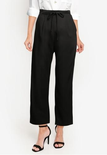 ZALORA WORK black Pleated Pants 365BCAA1747D2AGS_1