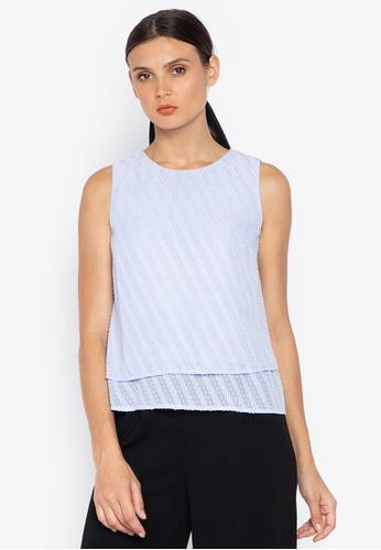 Susto The Label blue Tacha Textured Top 72360AAE591602GS_1