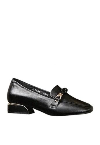 Twenty Eight Shoes black Top Layer Cowhide Knot Buckle Loafers VL8932 AC685SH6D82180GS_1