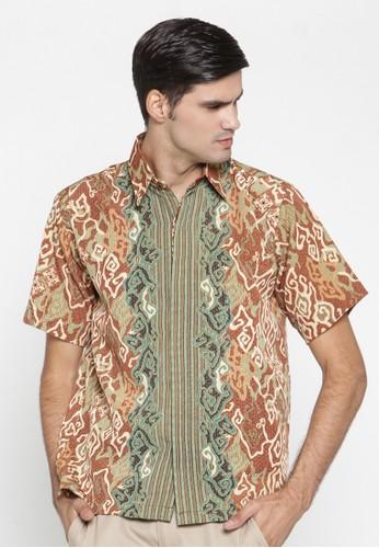 Waskito Hem Batik Semi Sutera - HB 10575 - Brown