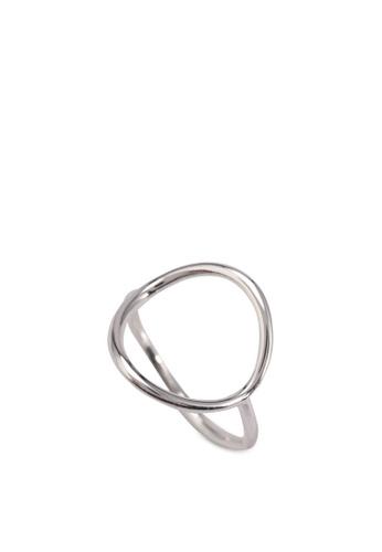 Orelia London silver Simple Open Circle Ring OR747AC0SC2RMY_1