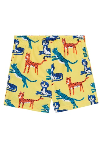 Du Pareil Au Même (DPAM) yellow Yellow Swim Shorts 359CAKAB89417AGS_1