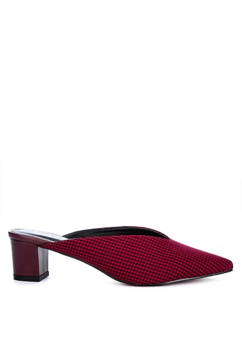 ABOUT A GIRL red Heeled Mules 9295FSHE426120GS_1
