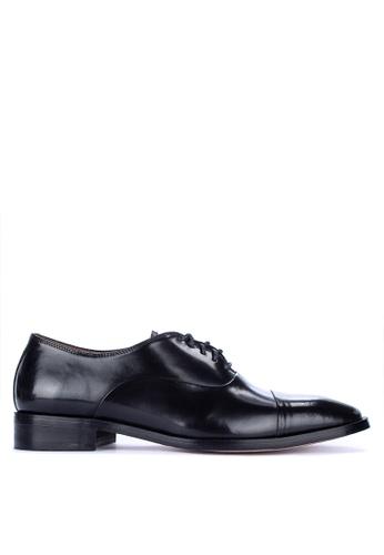 Bristol Shoes black Bryson Cap Toe Oxford 034D9SHC39EE1BGS_1